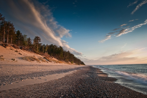 Sunset at 12 mile beach in Grand Marais 03