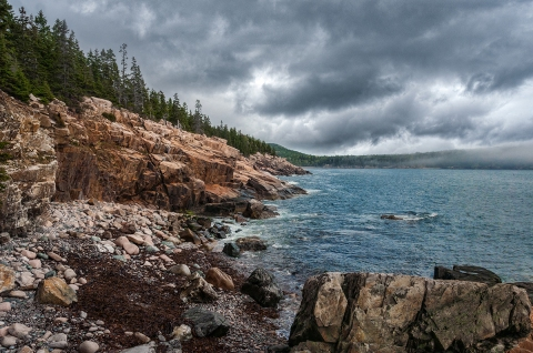 Tide coming in, south of Bar Harbor